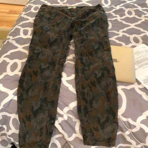 Free people Corduroy camouflage pants